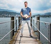 Vom Bankdrücker zum Stammgoalie: Marius Müller will «möglichst oft zu null spielen». Bild: Manuela Jans-Koch (Luzern, 11. Juli 2019)