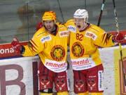 Die Ausländerfraktion der SCL Tigers, hier stellvertretend der Kanadier Chris DiDomenico und der Finne Harri Pesonen, erhalten Zuwachs (Bild: KEYSTONE/SALVATORE DI NOLFI)