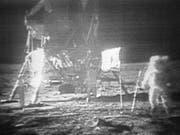 Neil Armstrong ist der erste Mensch auf dem Mond. (Bild: NASA via AP)