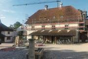 Die Arbeiten am historischen Portner-Haus, der heutigen Reception, sind bereits im Gange.Bild: PD