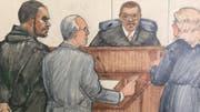 R. Kelly im Februar 2019 vor Gericht in Chicago. (Bild: AP)