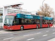 So sieht der neue vollelektronische Gelenkbus der ZVB aus. (Bild: PD)
