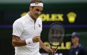So muss das bei Federer aussehen. (Bild: AP)