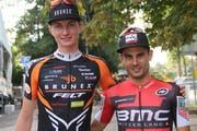 Die Urner Fabio Püntener (links) und Reto Indergand vertreten die Schweiz an der Mountainbike-Europameisterschaft. (Bild: PD)