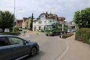 Beim Kreuzungspunkt Wilen-/Toggenburgerstrasse in Rickenbach wird der Verkehrsdienst auch am Samstag im Einsatz stehen. (Bilder: Hans Suter)