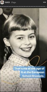 Dieses Bild zeigt von der Leyen als 8-jährige Schülerin in Brüssel.