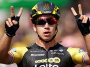 Dylan Groenewegen gewann die 7. Etappe der Tour de France (Bild: KEYSTONE/AP/CHRISTOPHE ENA)