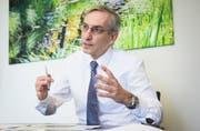 Urs Baumberger blickt optimistisch in die Zukunft des Kantonsspitals Nidwalden.Bild: Jakob Ineichen (Stans, 3.Juli 2019)