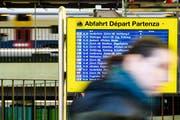 Wegen einer Störung am Bahnhof Aadorf fallen derzeit die Züge zwischen Zürich HB und St.Gallen aus. (Bild: KEY)
