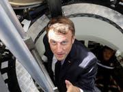Will mit Frankreichs Militär in den Weltraum vordringen: Staatspräsident Emmanuel Macron. (Bild: KEYSTONE/AP AFP POOL/LUDOVIC MARIN)