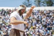 Zweiter Bergkranzfestsieg der Karriere: .Benji von Ah. (Bild: Urs Flüeler/Keystone (Rigi Staffel, 14. Juli 2019))