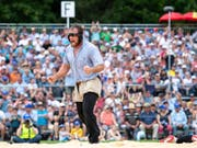 Matthias Aeschbacher darf sich nun auch Teilverbandsfestsieger nennen (Bild: KEYSTONE/ANTHONY ANEX)