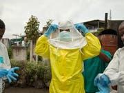 Ebola-Spezialisten im Einsatz in der kongolesischen Grossstadt Goma. (Bild: KEYSTONE/EPA IFRC/MARIA SANTTO / FINNISH RED CROSS / IFRC HANDOU)