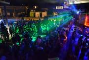Die Lichtshow verleiht dem Wuudu-Festival besonderes Flair, vor allem bei einem derartigen Andrang an Besuchern. (Bilder: Christoph Heer)