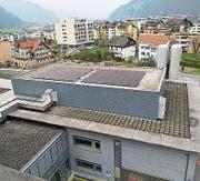 Die neue Photovoltaikanlage auf dem Dach des Kantonsspitals. (Bild: PD)