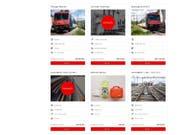 Die SBB bieten im Internet neuerdings alte Züge, Weichen und sonstiges Bahnzubehör zum Verkauf an. (Bild: sbbresale.ch/Screenshot)
