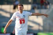 Führungsspieler Idriz Voca: Er ist neu der Stellvertreter von Captain Pascal Schürpf. (Bild: Martin Meienberger/Freshfocus, Biel, 9. Juli 2019)