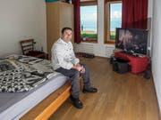Jorge Fonseca in seinem kleinen Zimmer auf dem Hohen Kasten. (Bild: Hanspeter Schiess)