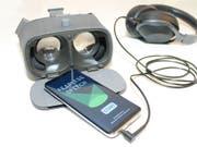 Lässt sich Vortragsangst durch Training in der virtuellen Realität überwinden? Das testen derzeit Forscher der Uni Basel. (Bild: Universität Basel, Abteilung Kognitive Neurowissenschaften)