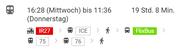 Mit dreimal Umsteigen schafft man es mit dem ÖV von Luzern nach Hirtshals in zirka 19 Stunden. (Bild: Printscreen Google Maps)