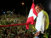 Wurde nach seiner Flucht in den USA festgenommen: der in Peru wegen Korruption angeklagte Ex-Präsident Alejandro Toledo. (Bild: KEYSTONE/AP/MARTIN MEJIA)