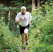 Trainiert hat er fleissig: Acht Mal ist Peter Stifel eine Strecke über 32 Kilometer gelaufen. (Bild: Roger Zbinden, Steinhausen, 13. Juli 2019)