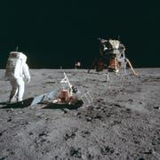 Astronaut Buzz Aldrin auf dem Mond am 21. Juli 1969. (Bild: Neil Armstrong/NASA via AP)