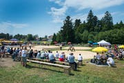 Blick auf die Arena am Zugerberg-Schwinget. (Archivbild: Maria Schmid)