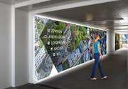 Die Bahnhofunterführung Cham wird heller - durch Foto-Glaswände. (Visualisierung: PD)