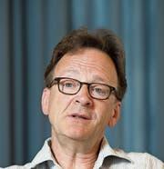 Bach-Dirigent Rudolf Lutz. Bild: Urs Bucher (St. Gallen, 7. 8. 2014)