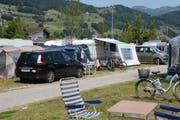 Sommerbetrieb auf dem TCS-Campingplatz in Buochs. (Bild: Toni Odermatt, 18. Juli 2019)