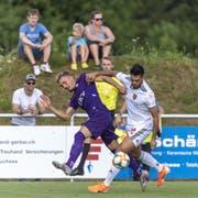 Basels Neuzuzug Omar Alderete im Testspiel gegen Lausanne. (Bild: Keystone)