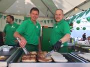 Bruno Ehrbar, Metzgerei Ehrbar Mörschwil und Werner Küttel, Vizepräsident Trägerverein Culinarium. (Bild: Michael Genova)