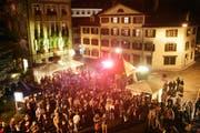 Der Pic-o-Pello-Platz füllt sich jeweils am Splügen-Fest. (Bild: Urs Bucher)