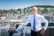 Stadtpräsident Thomas Scheitlin ist Vorsteher der Direktion Inneres und Finanzen, für das eine neue Software eingeführt wird. (Bild: Urs Bucher - 4. Juli 2019)