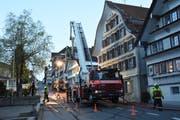 Schlagkräftig präsentierte sich die Feuerwehr Neckertal an ihrer Hauptübung im Mai dieses Jahres. (Bild: Urs M. Hemm, 5. Mai 2019)