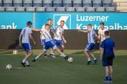 KI Klaksvik trainiert in der Swissporarena. (Bild: Urs Flüeler / Keystone, 24. Juli 2019)