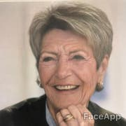 Keller-Suter, wie sie vielleicht im Alter aussehen wird. (Bild: Bearbeitung FaceApp)