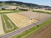 Quer durchs Thurtal soll dereinst die neue Schnellstrasse führen; der Hang des Ottenbergs steht unter Bundesschutz. (Bild: Reto Martin)
