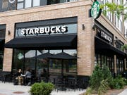 Starbucks-Filiale in Minneapolis in den USA. (Bild: KEYSTONE/AP/JIM MONE)