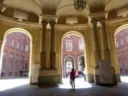 Beeindruckende Architektur im Palazzo Carignano. Bild: Silvia Schaub
