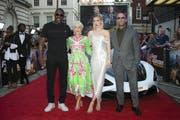 Die Stars von «Fast & Furious: Hobbs & Shaw»: Idris Elba, Helen Mirren, Vanessa Kirby und Jason Staham. (Bild: Joel C Ryan/Keystone)
