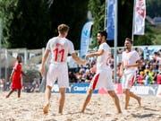 Die Schweizer Beach-Fussballer sind auch 2019 an der WM-Endrunde dabei. (Bild: KEYSTONE/Severin Bigler)