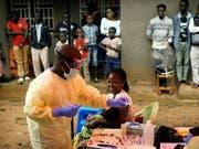 Impfaktion gegen Ebola in der kongolesischen Stadt Beni. (Bild: KEYSTONE/AP/JEROME DELAY)