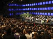 Mit einem Festakt sind am Samstag die berühmten Salzburger Festspiele eröffnet worden. (Bild: KEYSTONE/APA/APA/FRANZ NEUMAYR/LEO)