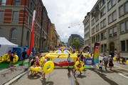 The finish is located above Neumarkt in Teufener Strasse. The traffic is diverted until Sunday evening at 24 hours.