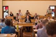 Rechnungssitzung, Stadparlament am 02. Juli. Stadträte im Parlament: Markus Buschor, Maria Pappa, Thomas Scheitlin, Sonja Lühti,Peter Jans