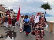 Am Zentralschweizer Tag an der Fête des Vignerons nahmen auch Nüssler aus Schwyz teil. (Bild: PD)