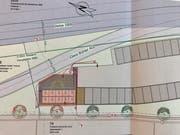 Die Lage der zehn Container auf dem Plan.