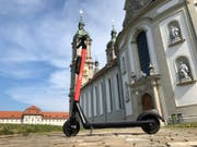 An electric scooter of VOI. (Photo: City of St.Gallen)